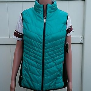 Women's xersion reversible stretch vest sz L Nwt